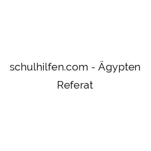 Ägypten Referat