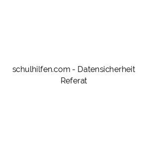 Datensicherheit Referat