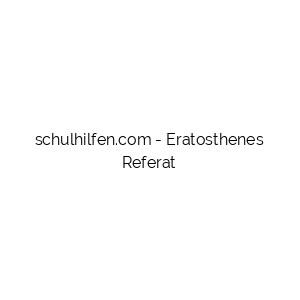 Eratosthenes Referat