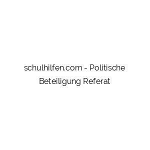 Politische Beteiligung Referat