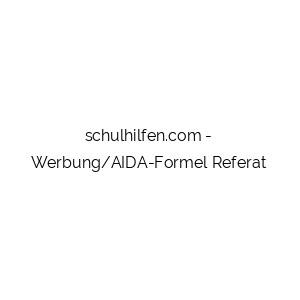 Werbung/AIDA-Formel Referat